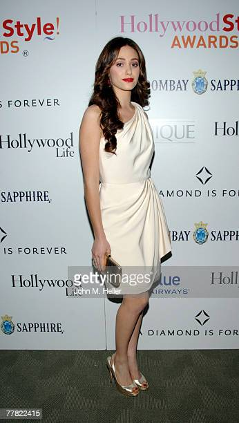 Emmy Rossum attends the release party for her debut album Inside Out at the Pacific Design Center hosted by Hollywood Life Magazine on November 8...