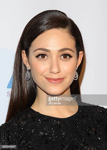 Emmy Rossum attends the Saban Community Clinic 37th Annual Dinner Gala at The Beverly Hilton Hotel on November 25 2013 in Beverly Hills California