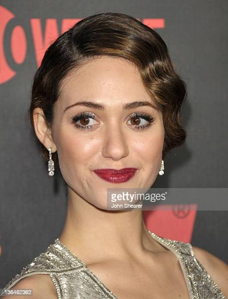 Emmy Rossum attends the Shameless Season 2 Reception at Haus Los Angeles on January 5 2012 in Los Angeles California