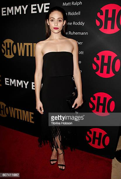 Emmy Rossum attends the Showtime Emmy Eve Party at Sunset Tower on September 17 2016 in West Hollywood California
