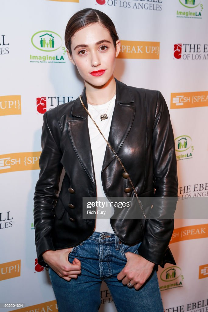 Emmy Rossum attends the Stories From The Front Line charity program at the Ebell of Los Angeles on February 27, 2018 in Los Angeles, California.