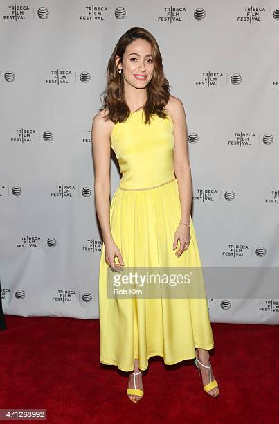 Emmy Rossum attends Tribeca Talks After The Movie Mr Robot during the 2015 Tribeca Film Festival at Chelsea Bow Tie Cinemas on April 26 2015 in New...