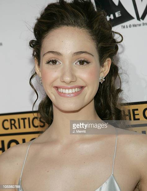 Emmy Rossum during 10th Annual Critics' Choice Awards Arrivals at Wiltern LG Theatre in Los Angeles California United States