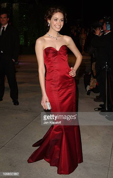 Emmy Rossum during 2005 Vanity Fair Oscar Party at Mortons in Los Angeles California United States