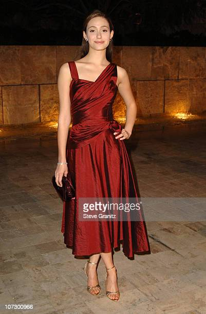 Emmy Rossum during Dior and EIF's Women's Cancer Research Fund Celebrate the Launch of Dior Christal at the Getty Center in Los Angeles California...