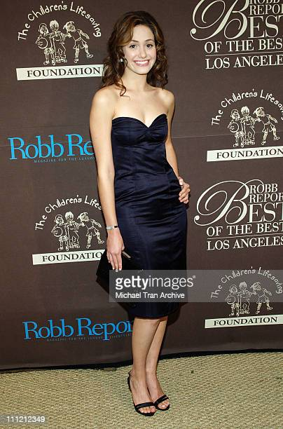 Emmy Rossum during RobbReport Best of the Best of Los Angeles October 15 2005 at Santa Monica Airport Hangar Eight in Santa Monica California United...