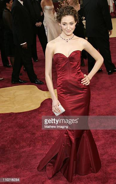 Emmy Rossum during The 77th Annual Academy Awards ET Platform at Kodak Theatre in Los Angeles California United States