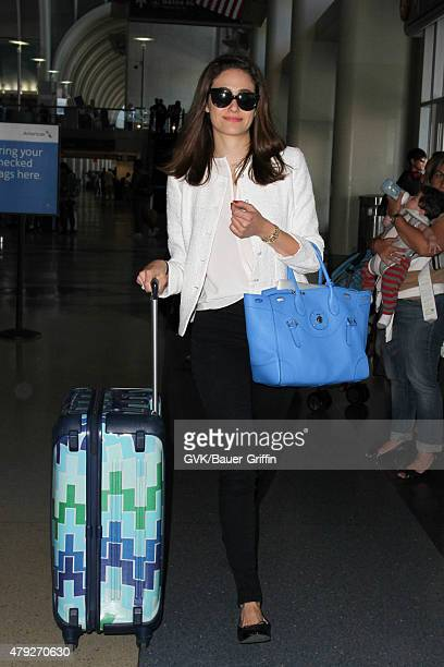 Emmy Rossum is seen at LAX on July 02 2015 in Los Angeles California