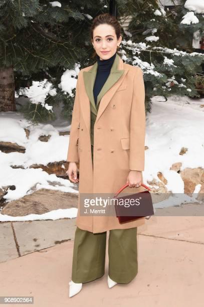 Emmy Rossum is seen during the 2018 Sundance Film Festival on January 22 2018 in Park City Utah