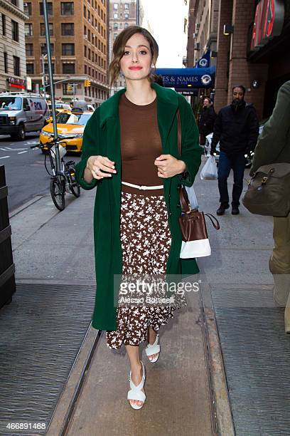 Emmy Rossum is seen in Midtown on March 19 2015 in New York City