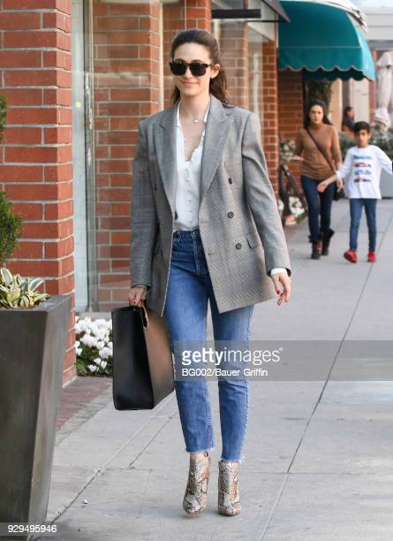 Emmy Rossum is seen on March 08 2018 in Los Angeles California