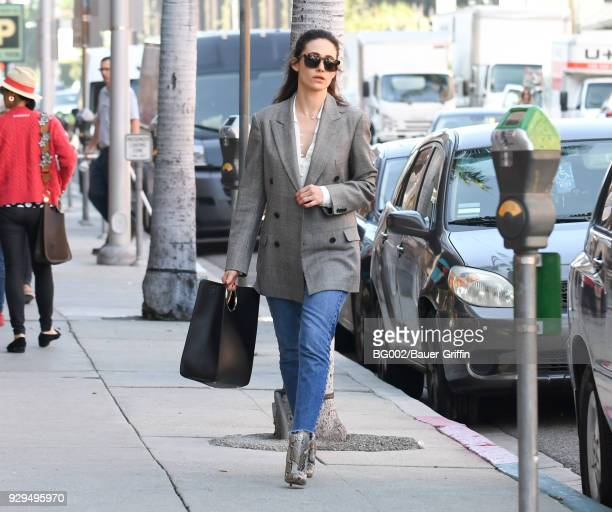 Emmy Rossum is seen on March 08, 2018 in Los Angeles, California.