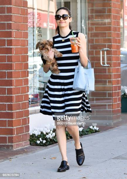 Emmy Rossum is seen on March 15 2018 in Los Angeles California