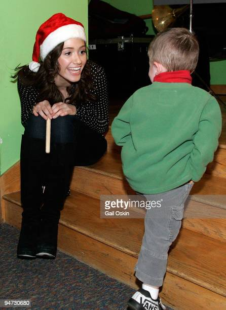 Emmy Rossum performs during a special holiday performance at the Children's Hospital Boston on December 17 2009 in Boston Massachusetts