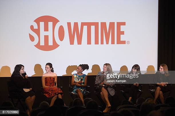 Emmy Rossum Shanola Hampton Krista Vernoff Isidora Goreshter and Nina Ruscio attend the Screening And Panel Discussion With The Women Of Showtime's...
