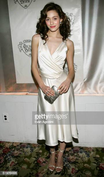 Emmy Rossum winner of the Break Through Performance Award for The Phantom of the Opera attends the National Board of Review Annual Gala 2005 at...