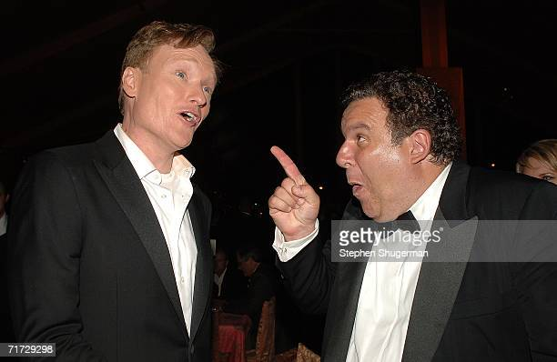 Emmy Show host Conan O'Brien and actor Jeff Garlin attend the HBO Post Emmy Party held at The Plaza at the Pacific Design Center on August 27, 2006...