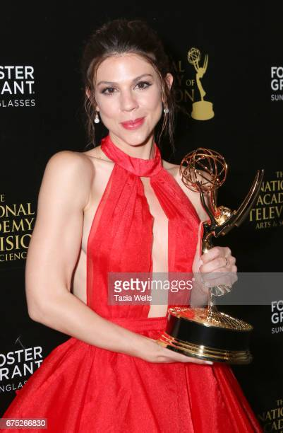 Emmy Winner for Outstanding Supporting Actress in a Drama Series for 'Days of Our Lives' Kate Mansi attends the 44th Daytime Emmy Awards with Foster...