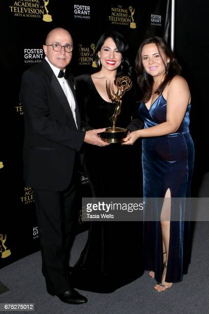 Emmy Winners for Outstanding Entertainment Program in Spanish for 'Destinos' attend the 44th Daytime Emmy Awards with Foster Grant on April 30 2017...