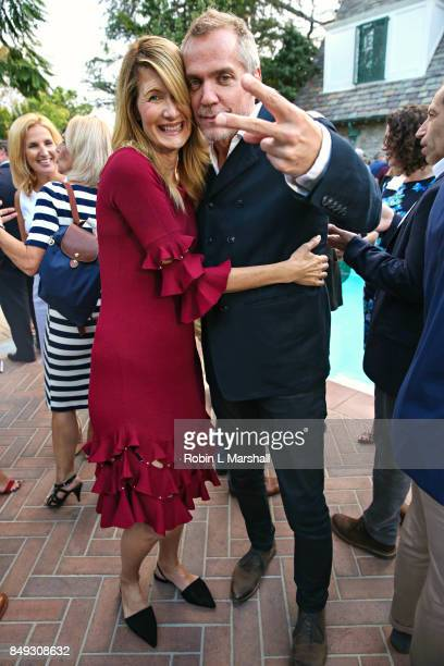 Emmy Winners Laura Dern and JeanMarc Vallee attends the Canadian Consulate's Celebration for the Canadian Nominees of the 69th Emmy Awards at...