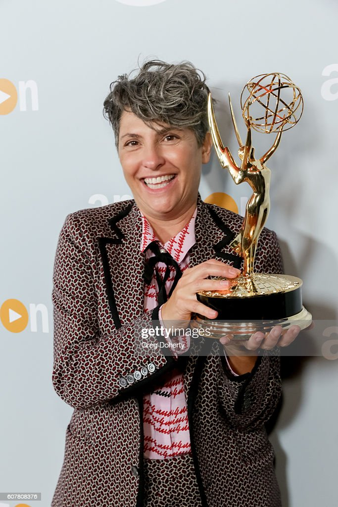 Emmy Winning Director Jill Soloway arrives at the Amazon's Emmy Celebration at the Sunset Tower Hotel on September 18, 2016 in West Hollywood, California.
