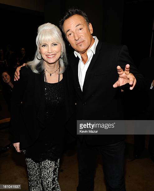 Emmylou Harris and Bruce Springsteen attend MusiCares Person Of The Year Honoring Bruce Springsteen at Los Angeles Convention Center on February 8...