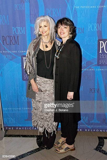 Emmylou Harris and daughter Hallie Slocum pose for photos before the Art of Compassion Gala sponsored by the Physicians Committee for Responsible...