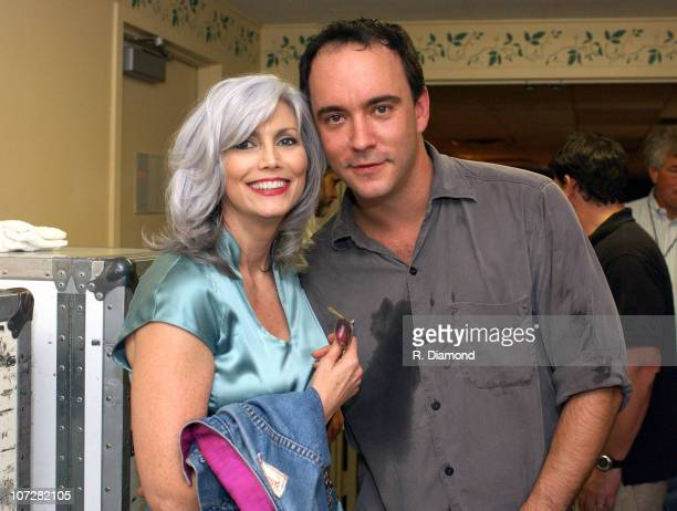 Emmylou Harris and Dave Matthews during Farm Aid 2003 Backstage at Germaine Amphitheater in Columbus Ohio United States