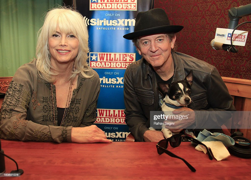 Emmylou Harris and Rodney Crowell attend Willie's Roadhouse at SiriusXM's studio in Austin City Limits Live at The Moody Theater on March 14, 2013 in Austin, Texas.