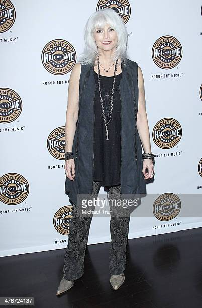 Emmylou Harris arrives at the Country Music Hall of Fame Museum's 'All For The Hall' held at Club Nokia on March 4 2014 in Los Angeles California