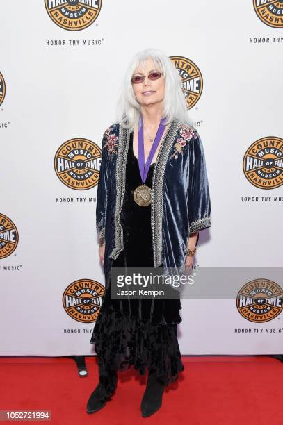 Emmylou Harris attends the 2018 Country Music Hall of Fame and Museum Medallion Ceremony honoring inductees Johnny Gimble Ricky Skaggs and Dottie...