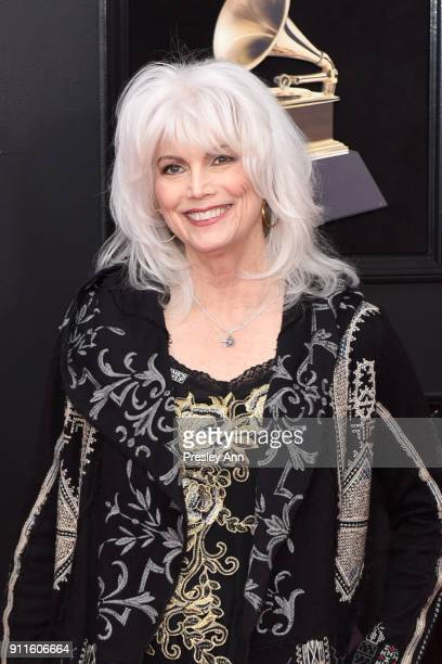 Emmylou Harris attends the 60th Annual GRAMMY Awards - Arrivals at Madison Square Garden on January 28, 2018 in New York City.