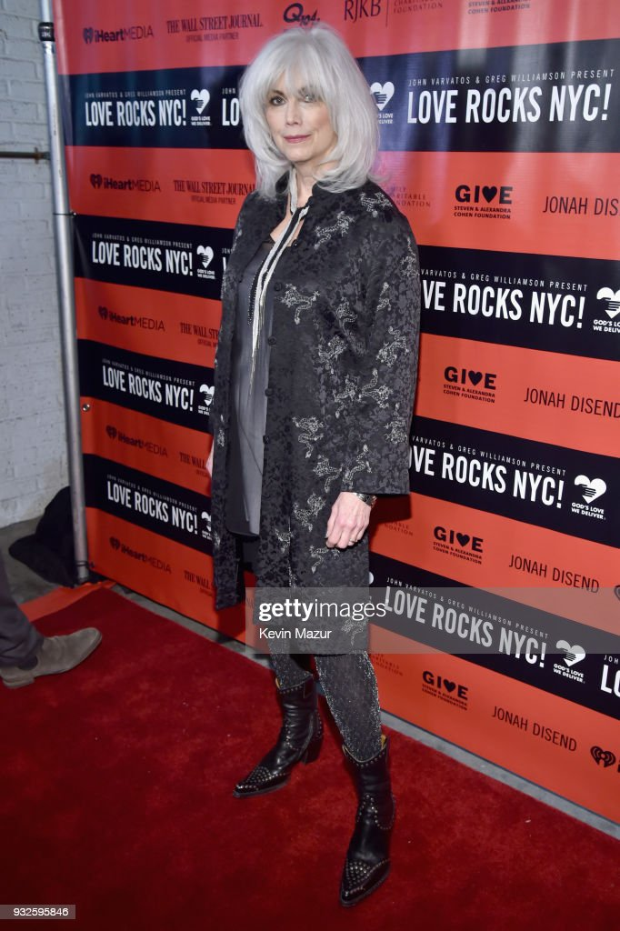 Emmylou Harris attends the Second Annual LOVE ROCKS NYC! A Benefit Concert for God's Love We Deliver at Beacon Theatre on March 15, 2018 in New York City.