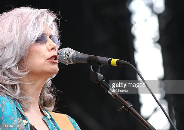 Emmylou Harris during 2003 Bonnaroo Music Festival Day Two at Bonnaroo Fairgrounds in Manchester Tennessee United States