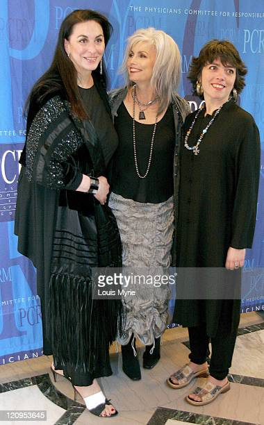 Emmylou Harris guest and daughter during Physicians Committee For Responsible Medicine 20th Anniversary BlackTie Gala at American Organization of...