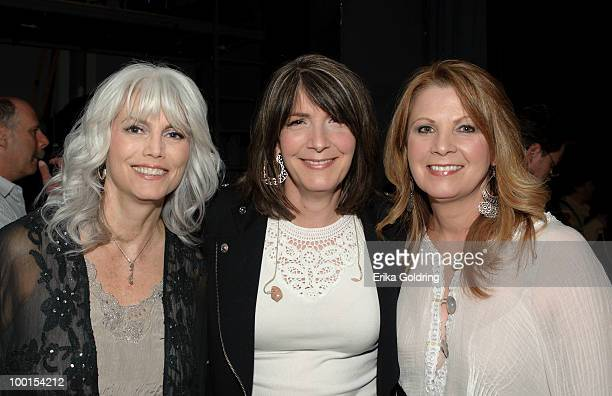 Emmylou Harris Kathy Mattea and Patty Loveless backstage during the Music Saves Mountains benefit concert at the Ryman Auditorium on May 19 2010 in...