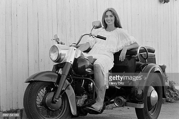 Emmylou Harris on a Motorcycle