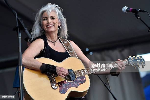 Emmylou Harris performing at the New Orleans Jazz Heritage Festival on April 30 2009