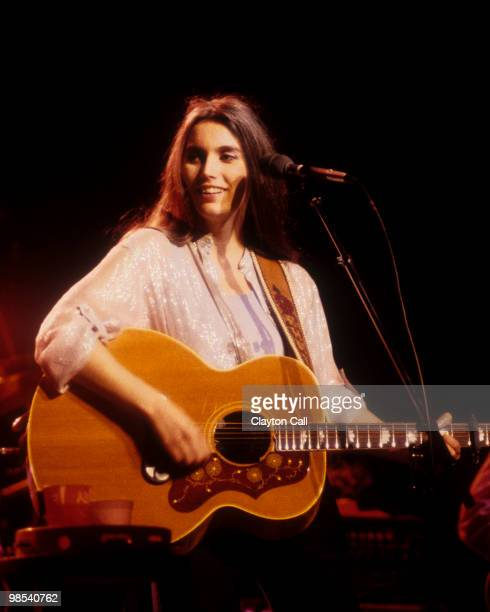 Emmylou Harris performing with The Hot Band at the Warfield Theater in San Francisco on June 6, 1982.