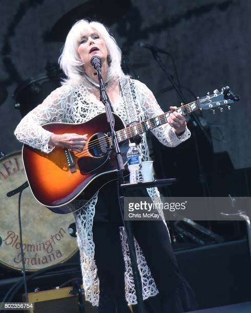 Emmylou Harris performs at Chastain Park Amphitheatre on June 27 2017 in Atlanta Georgia