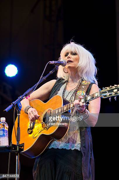 Emmylou Harris performs at Damrosch Park Bandshell at Lincoln Center in New York NY on August 6 2014