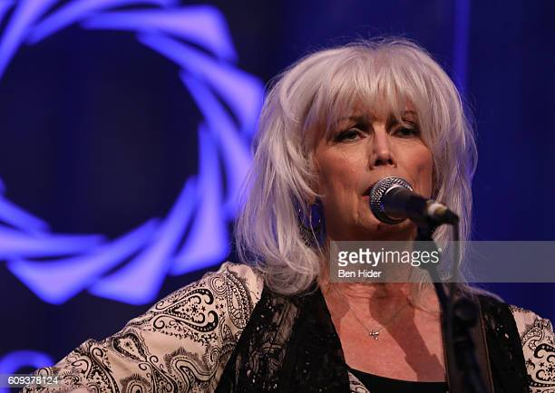 Emmylou Harris performs during 2016 Concordia Summit Awards Dinner at Grand Hyatt New York on September 20 2016 in New York City