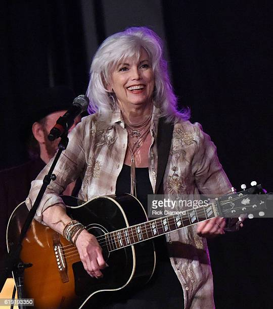 Emmylou Harris performs during the 2016 Celebrity Barn Dance Benefitting Music Health Alliance at Jaeckle Centre on October 29, 2016 in Thompson's...