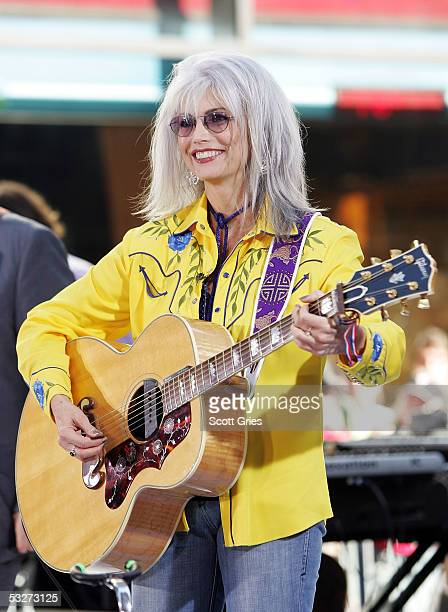 Emmylou Harris performs during the Toyota Concert Series on the Today Show July 22, 2005 in New York City.