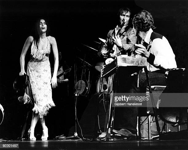 Emmylou Harris performs live in Amsterdam, Netherlands in 1975
