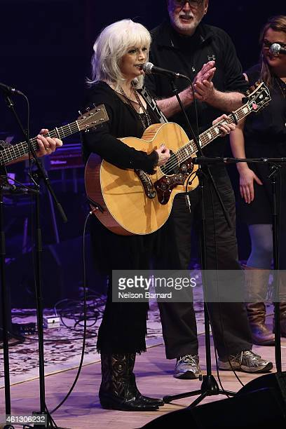 Emmylou Harris performs on stage during The Life Songs of Emmylou Harris An All Star Concert Celebration at DAR Constitution Hall on January 10 2015...