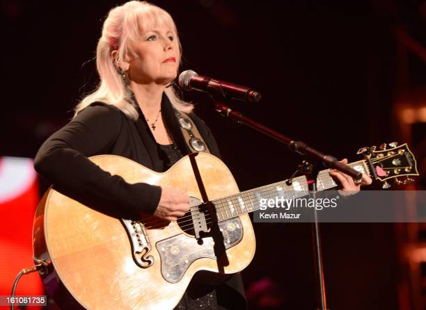 Emmylou Harris performs onstage at MusiCares Person Of The Year Honoring Bruce Springsteen at Los Angeles Convention Center on February 8 2013 in Los...
