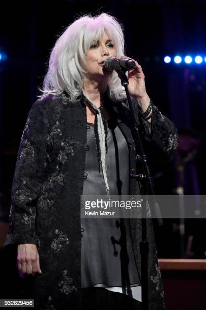 Emmylou Harris performs onstage at the Second Annual LOVE ROCKS NYC A Benefit Concert for God's Love We Deliver at Beacon Theatre on March 15 2018 in...