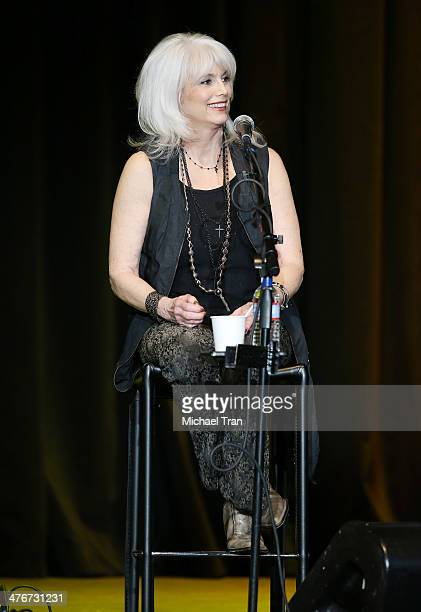 Emmylou Harris performs onstage during the Country Music Hall of Fame Museum's 'All For The Hall' held at Club Nokia on March 4 2014 in Los Angeles...