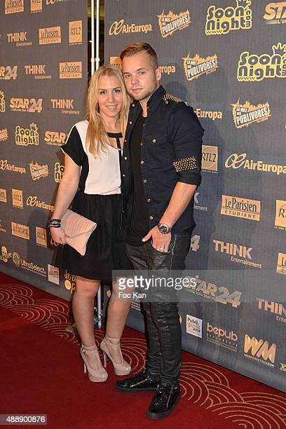 EmmyMakeUpPro and Ma2x attend the '35th Nuit des Publivores' at Grand Rex September 17 2015 in Paris France